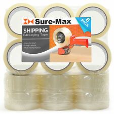 "18 Rolls Clear Box Carton Sealing Packing Tape Shipping - 2 mil 2"" x 55 Yar"