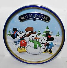 Royal Dansk 2013 MICKEY & MINNIE MOUSE Winter Snowman Cookie Tin Box Container