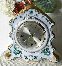 """Time's a Wasting""  Rococo Painted Porcelain  Desk Clock"