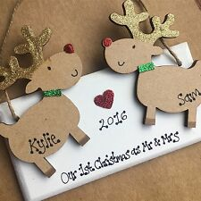 First Christmas as mr and mrs decoration Personalised First Christmas Gift Cute