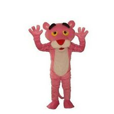 Cartoon Character Pink Panther Mascot Costume Fancy Dress Adult Suit