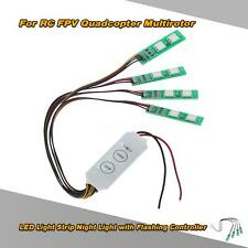 LED Light Strip Night Light w/ Flashing Controller for RC Quadcopter Drone D5N7