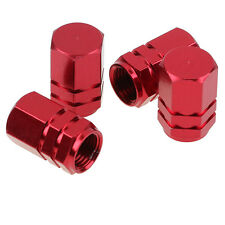4Pcs Car Truck Bike Aluminum Wheel Rims Stem Air Valve Caps Tyre Cover Red