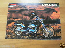 K089 KAWASAKI  BROCHURE PROSPEKT FOLDER VN800 ENGLISH 6 PAGES