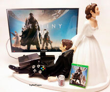 DEST Custom Wedding Cake Topper Video Gamer Bride and Groom Xbox One/PS4