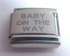 BABY ON THE WAY Italian Charm - Pregnant New Babies 9mm fits Classic Bracelets