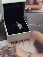 LOVE NOTE Heart Book PANDORA Sterling Silver VALENTINE Dangle CHARM/Bead 791246