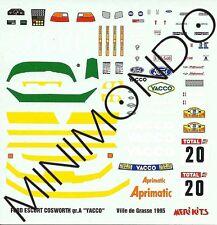 DECALS FORD ESCORT COSWORTH WINNER RALLY VILLE DE GRASSE 1995 1/43 MERI KITS