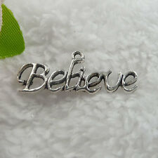 Free Ship 110 pcs tibet silver Believe pendant 33x13mm  #093