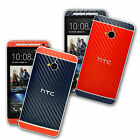HTC ONE M7 Two Tone 3D Coloured CARBON Fibre Skin Wrap Sticker Cover Decal