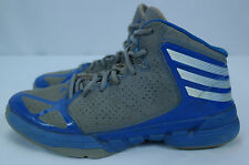 Men's Adidas Gray/Blue/White Mad Handle Basketball Shoes - Sz 8.5