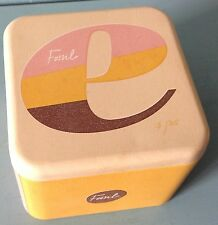 EMPTY 2012 FOSSIL WATCH COLLECTOR TIN ALPHABET SERIES 5/26 E VINTAGE STORAGE BOX
