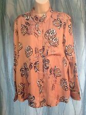 M&S Ladies Size 16 Floral Silky Feel Blouse (BNWT)