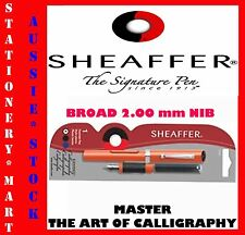 SHEAFFER◉CLASSIC CALLIGRAPHY FOUNTAIN PEN◉STARTER KIT◉1 BROAD NIB ◉2 CARTRIDGES◉