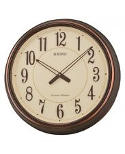 Seiko qxd212b Cobre Antiguo Westminster Doble Chimes 3d Vintage Reloj De Pared Nueva