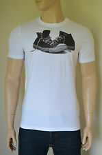 NEW Abercrombie & Fitch Pine Point Trail White Sneakers Trainers Tee T-Shirt L