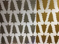 Christmas Tree Confetti Wall Stickers, removable, silver, gold, black, white