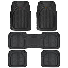 5pc Black Deep Dish All Weather Heavy Duty Rubber SUV VAN Car Floor Mats 3 Row