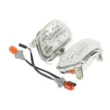 Clear Plastic Front Side Turn Signal Lights For Honda Goldwing GL1800 2001-2014