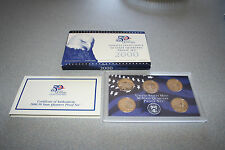2000,United States Mint 50 Quarters Proof Set,5 Coins,Coa,Gift,Free Ship,500002
