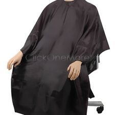 SALON HAIRDRESSING HAIR CUTTING GOWN BARBERS BLACK CAPE Size M Free Post