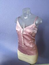 MARC JACOBS Silk Satin Cami Spaghetti Top Pintuck Bustier 6 S GORGEOUS COLOR!