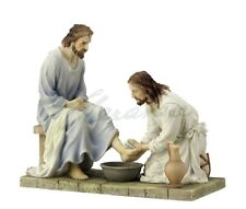 Jesus Christ Washing His Disciple's Feet Sculpture Statue RELIGIOUS DECOR