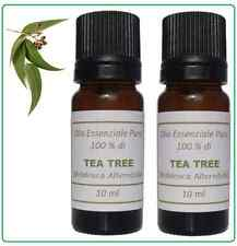 2 x TEA TREE OIL (MELALEUCA ALTERNIFOLIA) - OLIO ESSENZIALE PURO 10ml