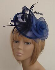 New Navy Blue Hat Fascinator Mother Of The Bride Weddings, Ladies Day Races