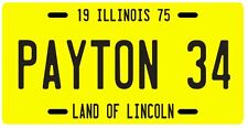 Walter Payton Chicago Bears Rookie 1975 License Plate