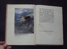 WILD SPORTS & NATURAL HISTORY OF THE HIGHLANDS: Scotland / Fishing / Hunting /