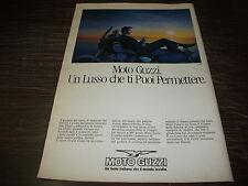 Pubblicità advertising giugno 1988. MOTO GUZZI