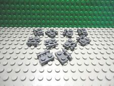 Lego 10 Dark Bluish Gray 1x2 plate with side handle NEW