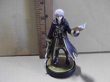 """#A464 Unknown Anime 3.25""""in White Hair Guy Holding Book & Sword"""