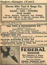 1946 Eleven Mile Tool & Gage Co Berkley Michigan Ad