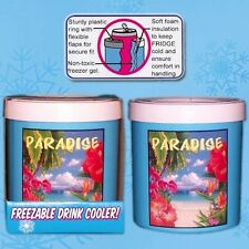 Two (2) Paradise The Fridge Freezable Drink Beverage Cooler can Koozie by Lifoam