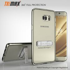 Galaxy S6 Edge Plus TriMax® Clear Slim 360°Full Body Protection Kickstand Case
