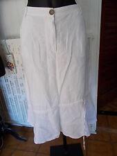 Jupe longue 100% lin blanc LAUREN VIDAL XL 44F 16UK