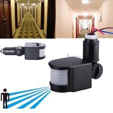 Sécurité Detector PIR Motion Sensor infrarouge lumières LED extérieur RF Noir