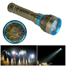 Waterproof 100m 18000Lm 9x CREE XM-L2 LED SCUBA Diving Flashlight Torch Lamp NEW