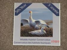 Canada, Wildlife Habitat Conservation Booklet 1989, MNH, Snow Geese at Nest