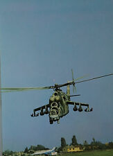 O Saffek  Mil Mi-24 Hind Russian Air Force Postcard