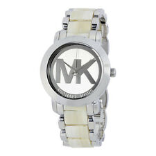 MICHAEL KORS Damen Armbanduhr Uhr Damenuhr Silber Beige MK4304 Ladies Watch