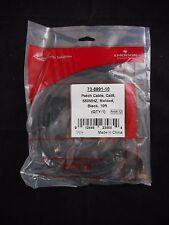 NEW EMERSON Cat6 Ethernet Patch Cable 550mhz Molded RJ45 M/M 10ft (3m) Black