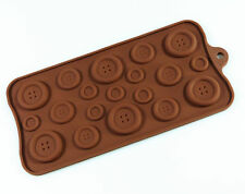 BUTTON Chocolate Candy Silicone Bakeware Mould Sugarpaste Cake Decorating Mold