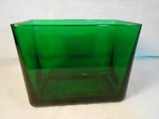 vintage Napco Forest Green Glass Dish or Planter Made in Cleveland Ohio U.S.A