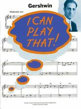 I Can Play That GERSHWIN Learn to Play JAZZ BLUES Piano Music Book