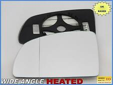 Wing Mirror Glass  Vauxhall Meriva A 2002-2009 Wide Angle HEAT Left Side #F023