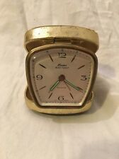 Linden Vintage Travel Alarm Clock Pocket Cowboy Western Wagon Black Forest Mid