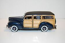Danbury Mint 1940 FORD DELUXE (WOODY) STATION WAGON- VERY RARE! EXCELLENT!
